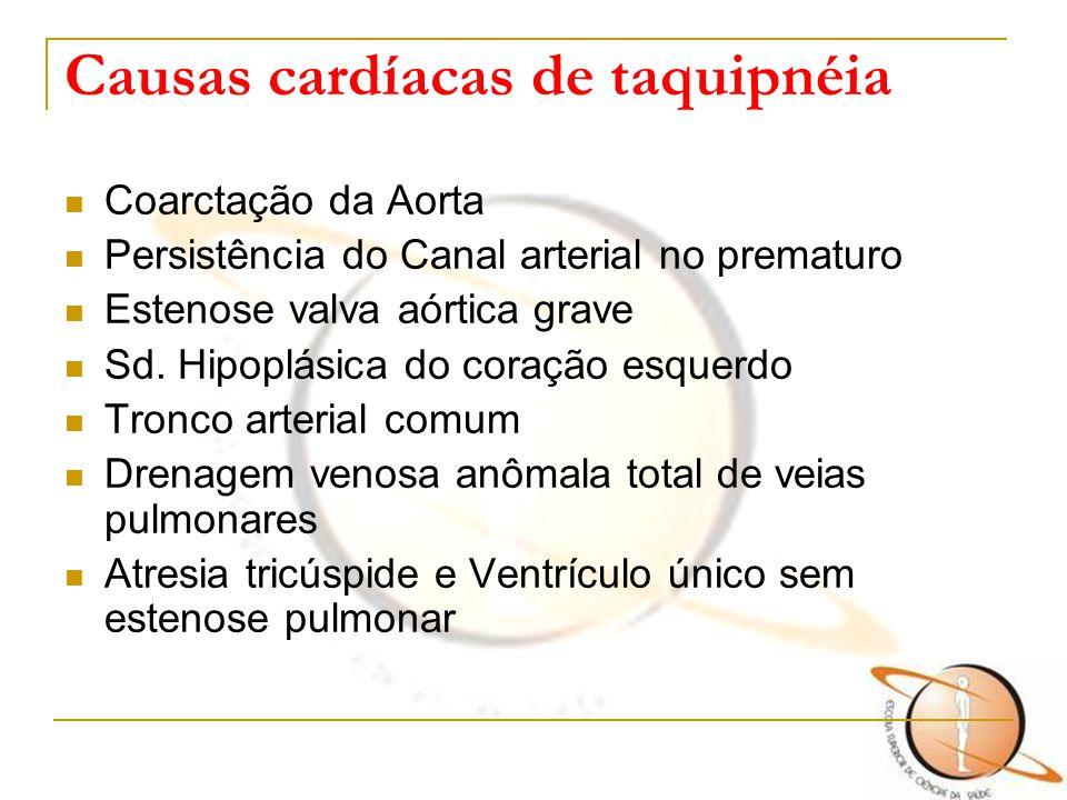 Causas cardíacas de taquipnéia