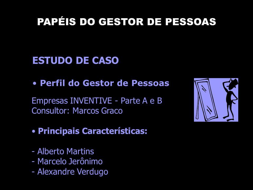 PAPÉIS DO GESTOR DE PESSOAS