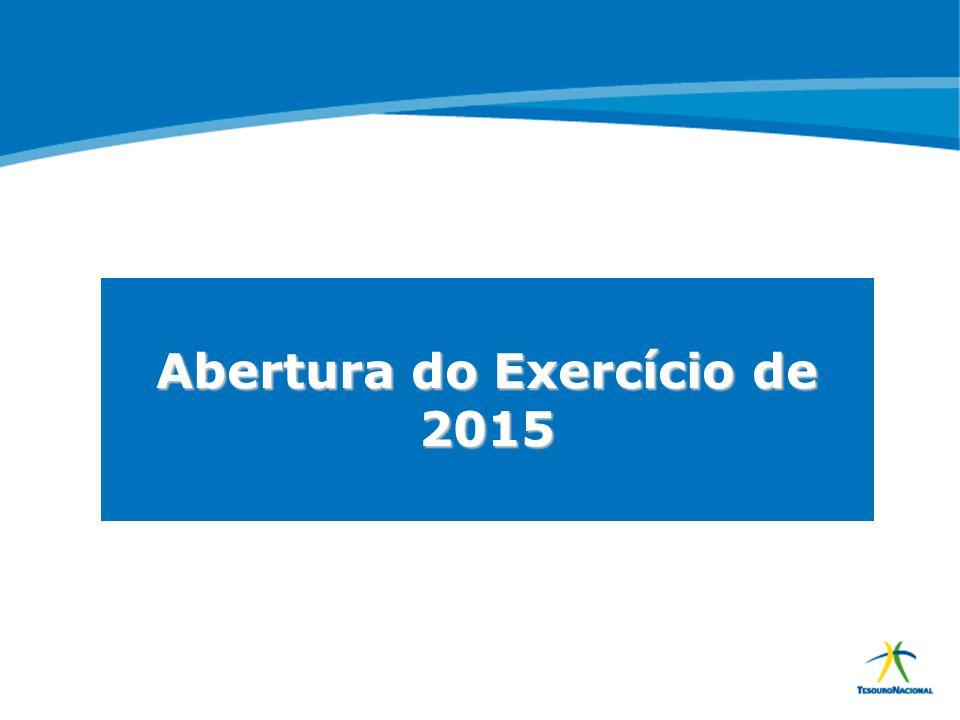 Abertura do Exercício de 2015