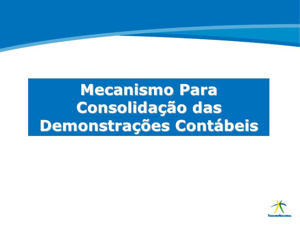 Mecanismo Para Consolidação das Demonstrações Contábeis