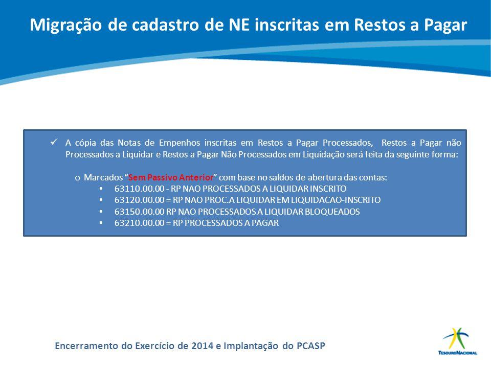 Migração de cadastro de NE inscritas em Restos a Pagar