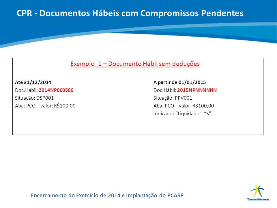 CPR - Documentos Hábeis com Compromissos Pendentes
