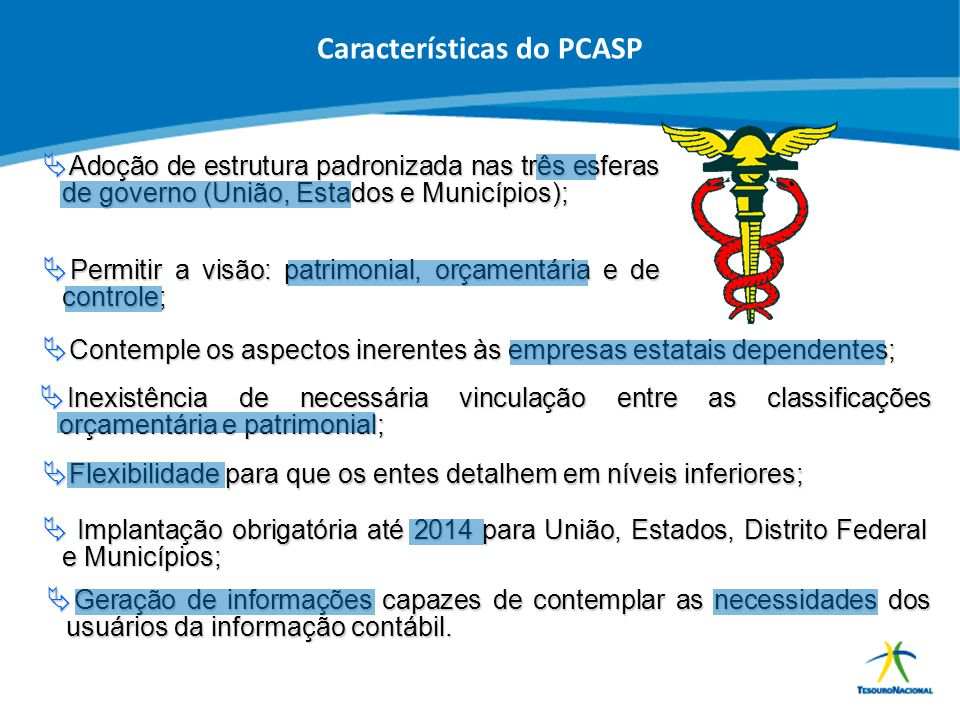 Características do PCASP