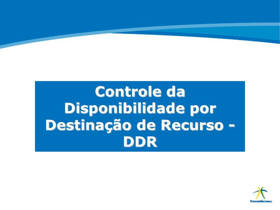Controle da Disponibilidade por Destinação de Recurso - DDR