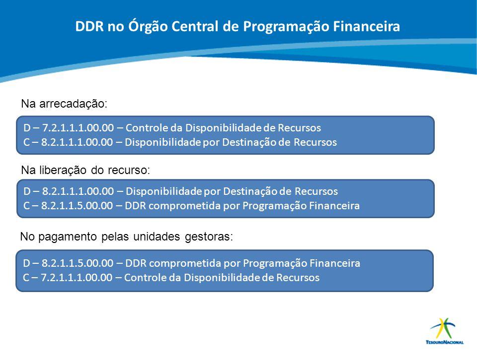 DDR no Órgão Central de Programação Financeira