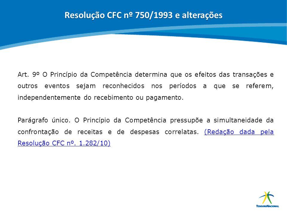 Resolução CFC nº 750/1993 e alterações