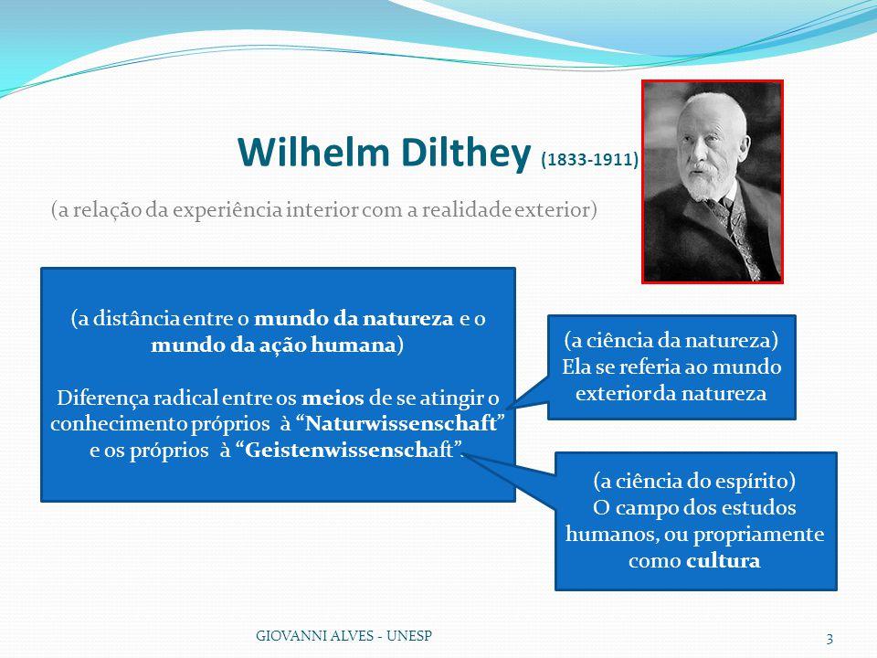 Wilhelm Dilthey (1833-1911) (a relação da experiência interior com a realidade exterior)