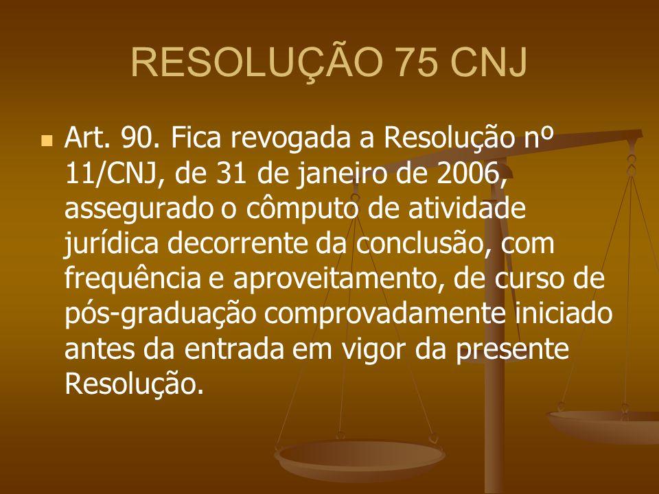 RESOLUÇÃO 75 CNJ