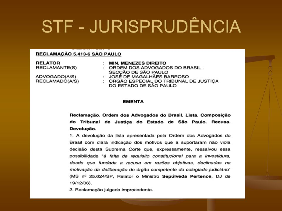 STF - JURISPRUDÊNCIA