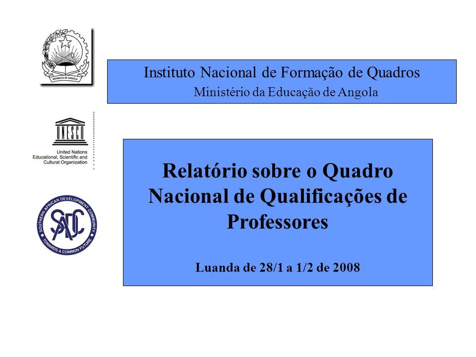 Relatório sobre o Quadro Nacional de Qualificações de Professores