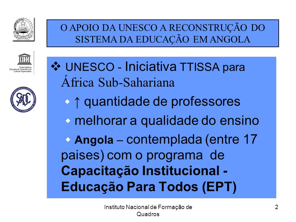 UNESCO - Iniciativa TTISSA para África Sub-Sahariana