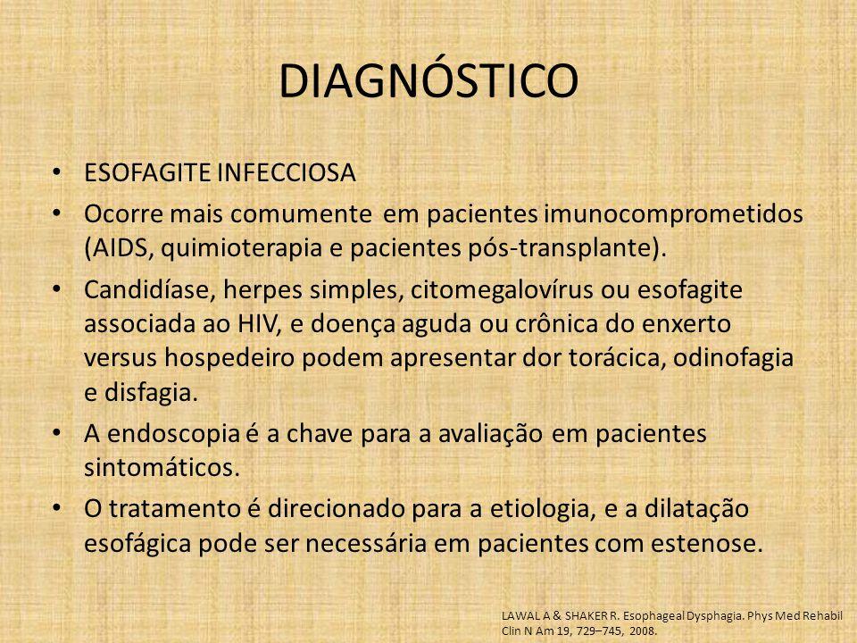 DIAGNÓSTICO ESOFAGITE INFECCIOSA