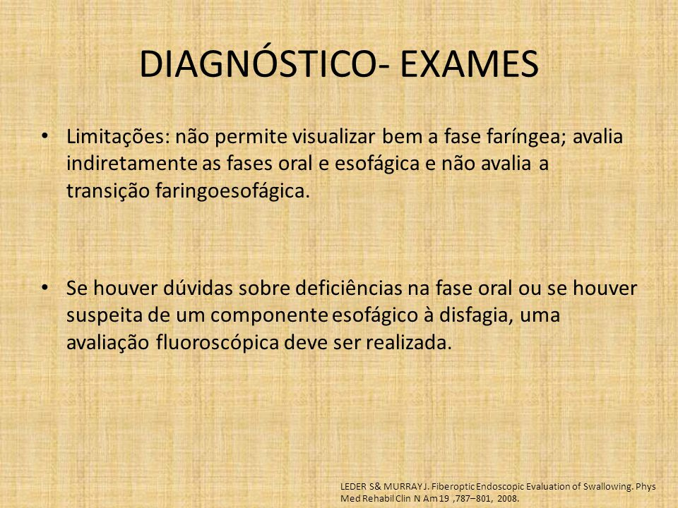 DIAGNÓSTICO- EXAMES