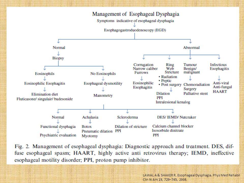 LAWAL A & SHAKER R. Esophageal Dysphagia. Phys Med Rehabil