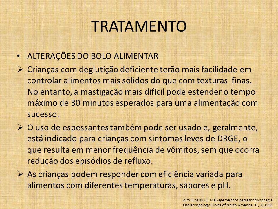 TRATAMENTO ALTERAÇÕES DO BOLO ALIMENTAR