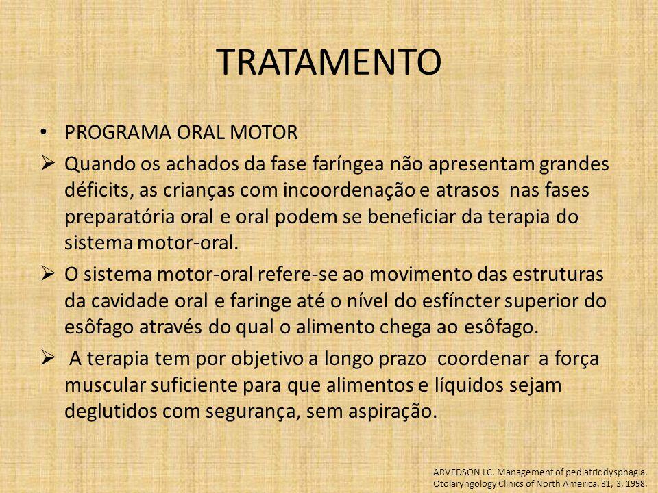 TRATAMENTO PROGRAMA ORAL MOTOR