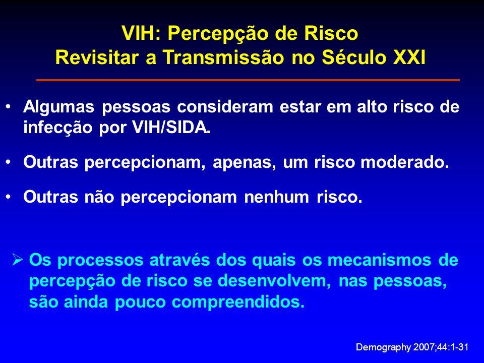 VIH: Percepção de Risco Revisitar a Transmissão no Século XXI