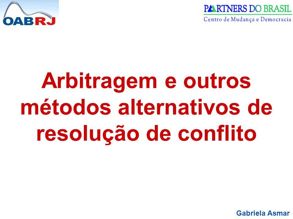 Arbitragem e outros métodos alternativos de resolução de conflito