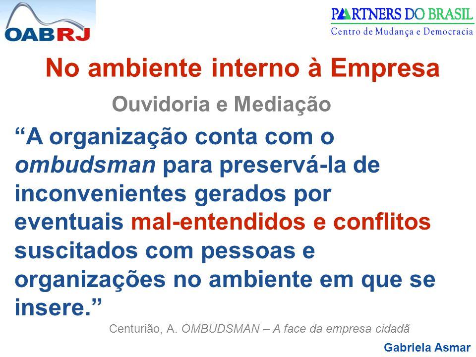 No ambiente interno à Empresa