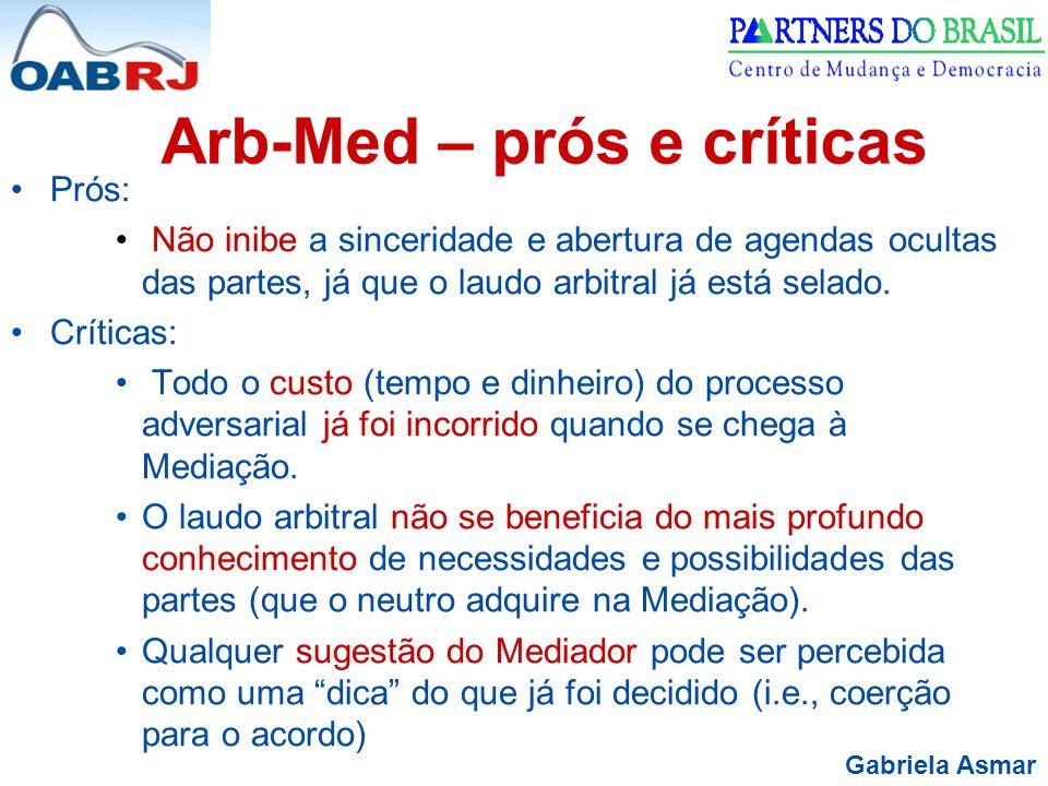 Arb-Med – prós e críticas