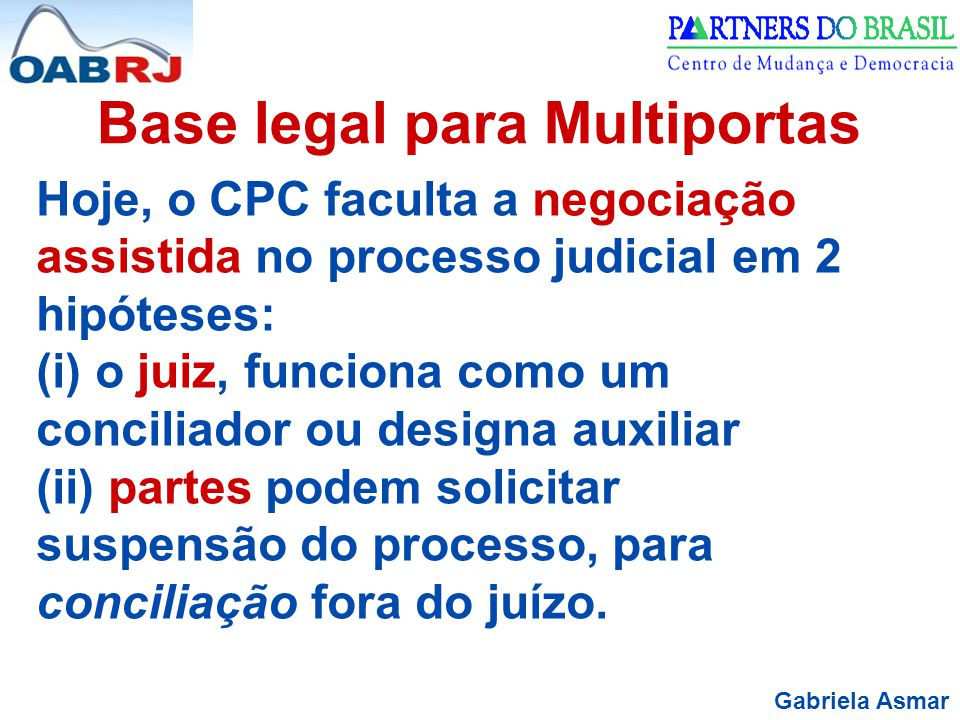 Base legal para Multiportas