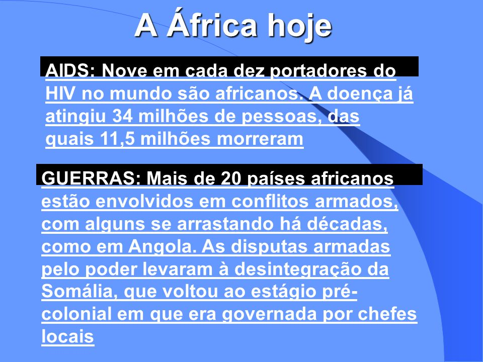 A África hoje