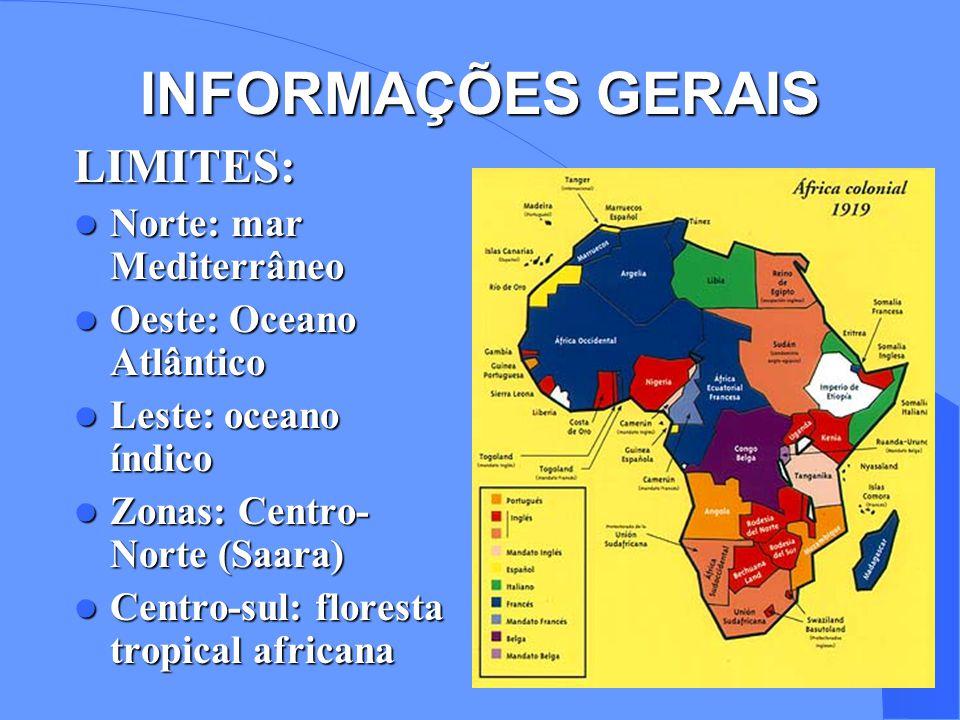 INFORMAÇÕES GERAIS LIMITES: Norte: mar Mediterrâneo