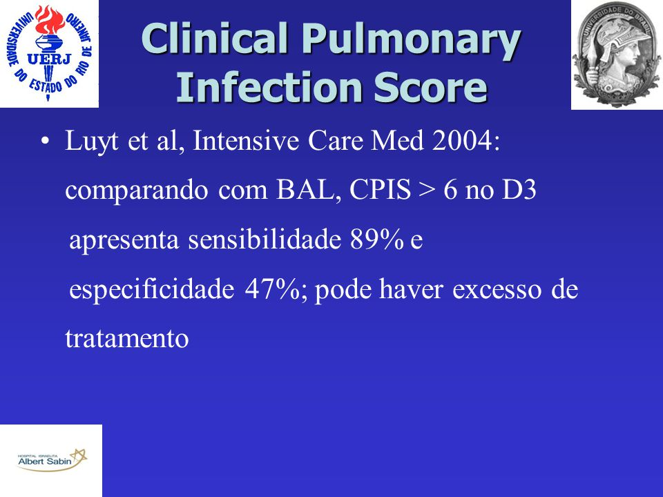 Clinical Pulmonary Infection Score