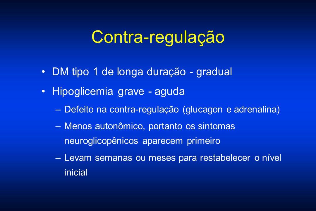 Contra-regulação DM tipo 1 de longa duração - gradual