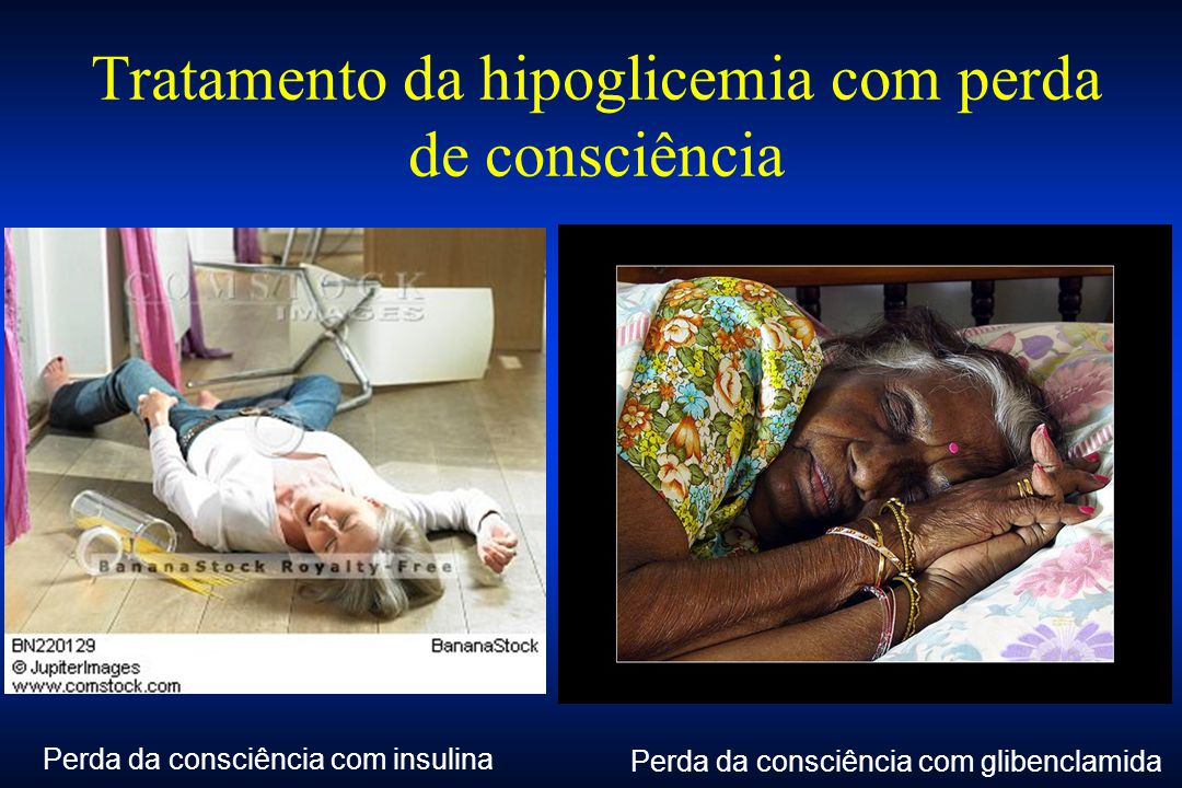 Tratamento da hipoglicemia com perda de consciência