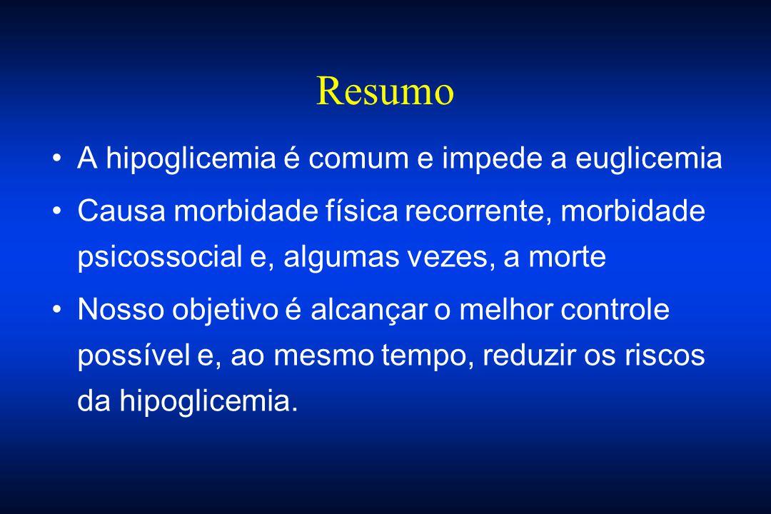 Resumo A hipoglicemia é comum e impede a euglicemia