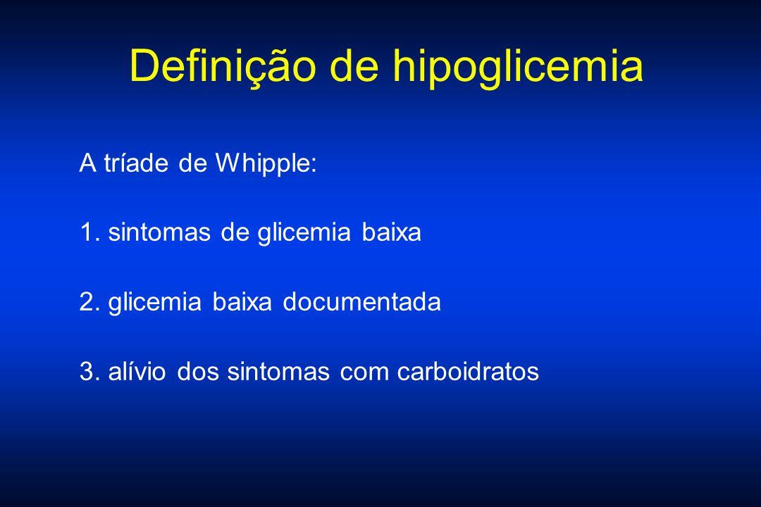 Definição de hipoglicemia