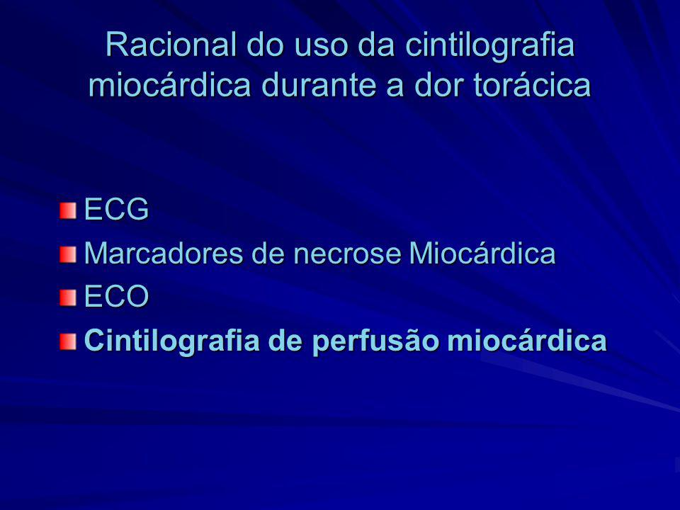 Racional do uso da cintilografia miocárdica durante a dor torácica