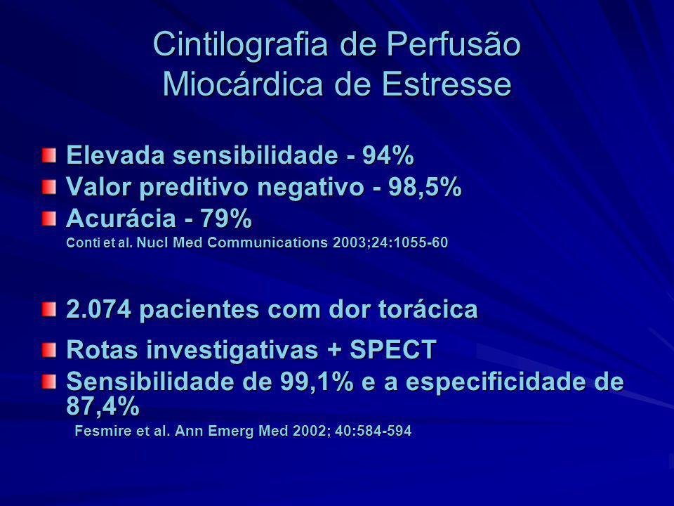 Cintilografia de Perfusão Miocárdica de Estresse