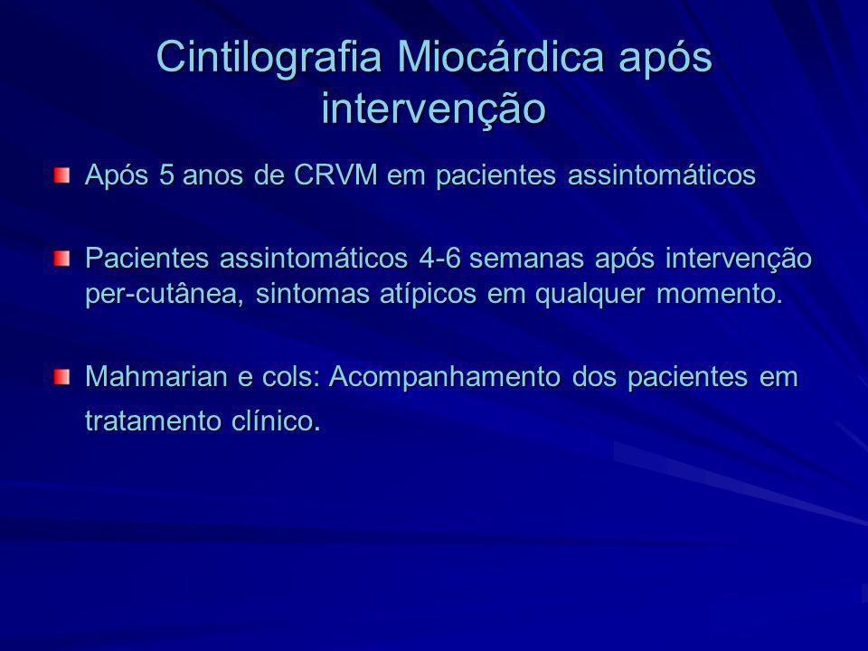 Cintilografia Miocárdica após intervenção