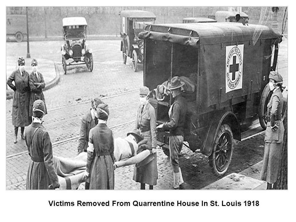 Victims Removed From Quarrentine House In St. Louis 1918