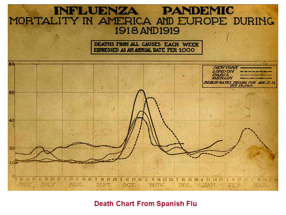 Death Chart From Spanish Flu