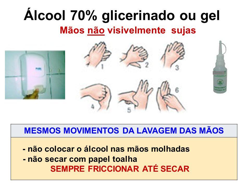 Álcool 70% glicerinado ou gel