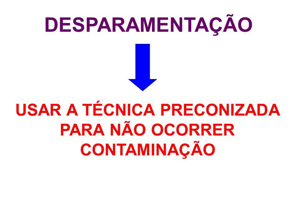 USAR A TÉCNICA PRECONIZADA