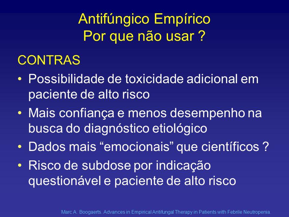 Antifúngico Empírico Por que não usar