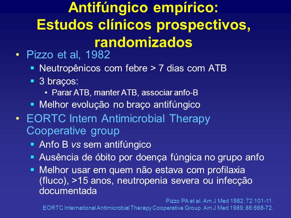 Antifúngico empírico: Estudos clínicos prospectivos, randomizados