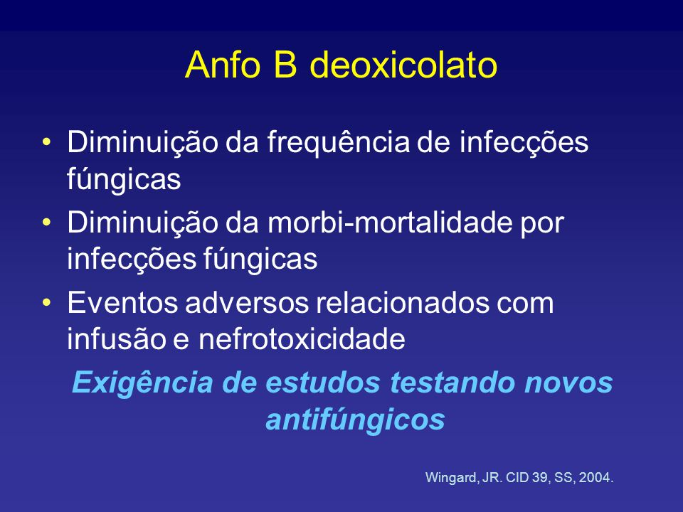 Exigência de estudos testando novos antifúngicos