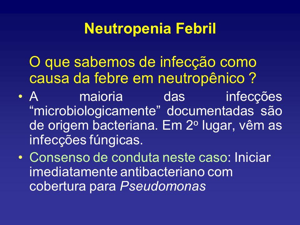 Neutropenia Febril O que sabemos de infecção como causa da febre em neutropênico