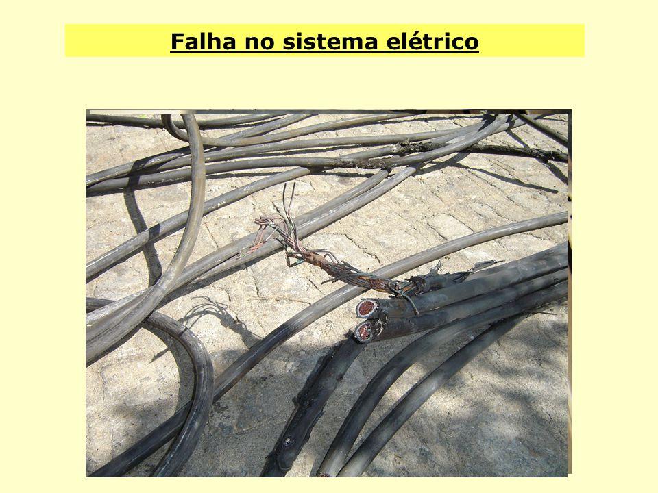 Falha no sistema elétrico