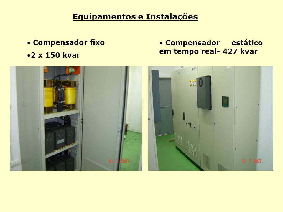 Equipamentos e Instalações