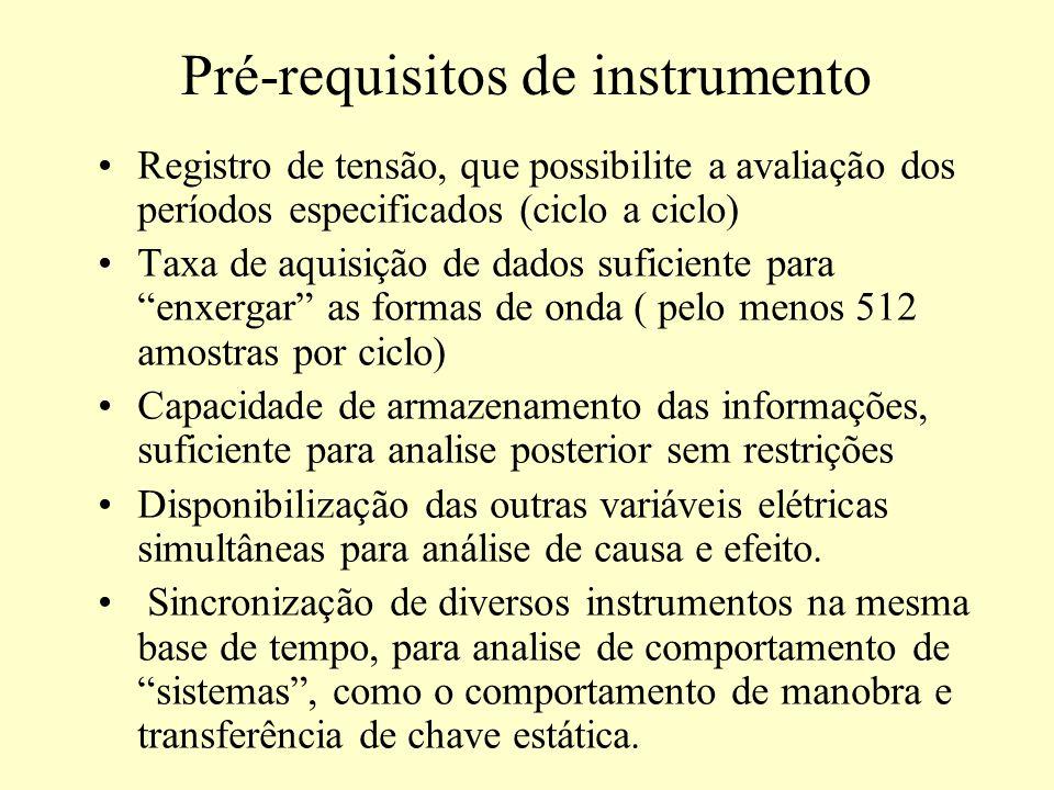 Pré-requisitos de instrumento