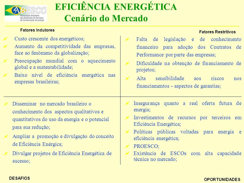 EFICIÊNCIA ENERGÉTICA Cenário do Mercado