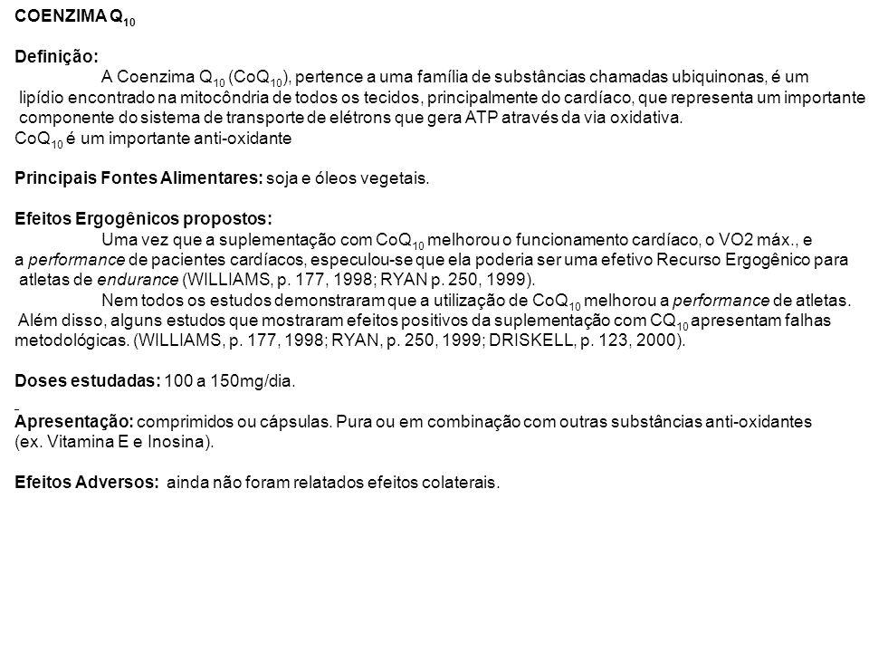 COENZIMA Q10 Definição: A Coenzima Q10 (CoQ10), pertence a uma família de substâncias chamadas ubiquinonas, é um.