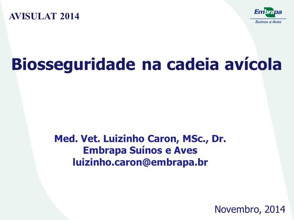 Biosseguridade na cadeia avícola Med. Vet. Luizinho Caron, MSc., Dr.