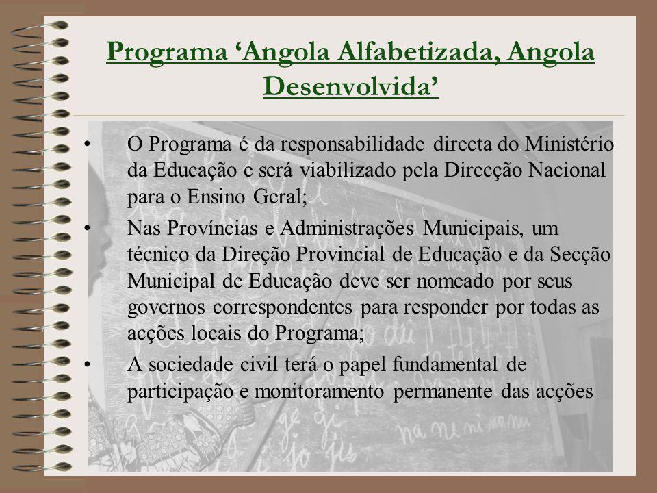 Programa 'Angola Alfabetizada, Angola Desenvolvida'